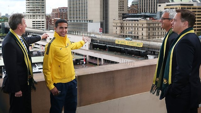 Some players get a grandstand at a stadium, others get medals awarded in their honour, but as Australia bid to qualify for their third straight World Cup, Tim Cahill gets an expressway !