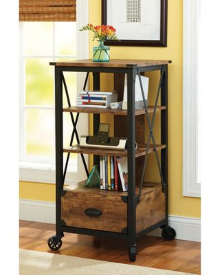This industrial-inspired tech pier holds your gadgets and more! Buy it here: http://www.bhg.com/shop/better-homes-and-gardens-rustic-country-tech-pier-antiqued-black-pine-finish-p4f79928282a7186fba41bee2.html?socsrc=bhgpin092012shoptechpier