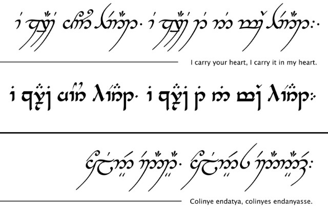 how to speak elvish sindarin