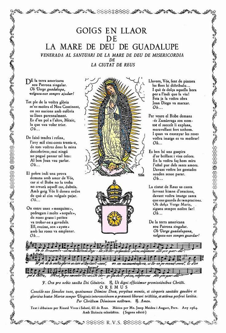 """""""Goigs"""" catalanes: poemas populares para alabar a algún santo en su fiesta. ¡Éste es para honrar a La Virgen de Guadalupe, en la ciudad de Reus!"""
