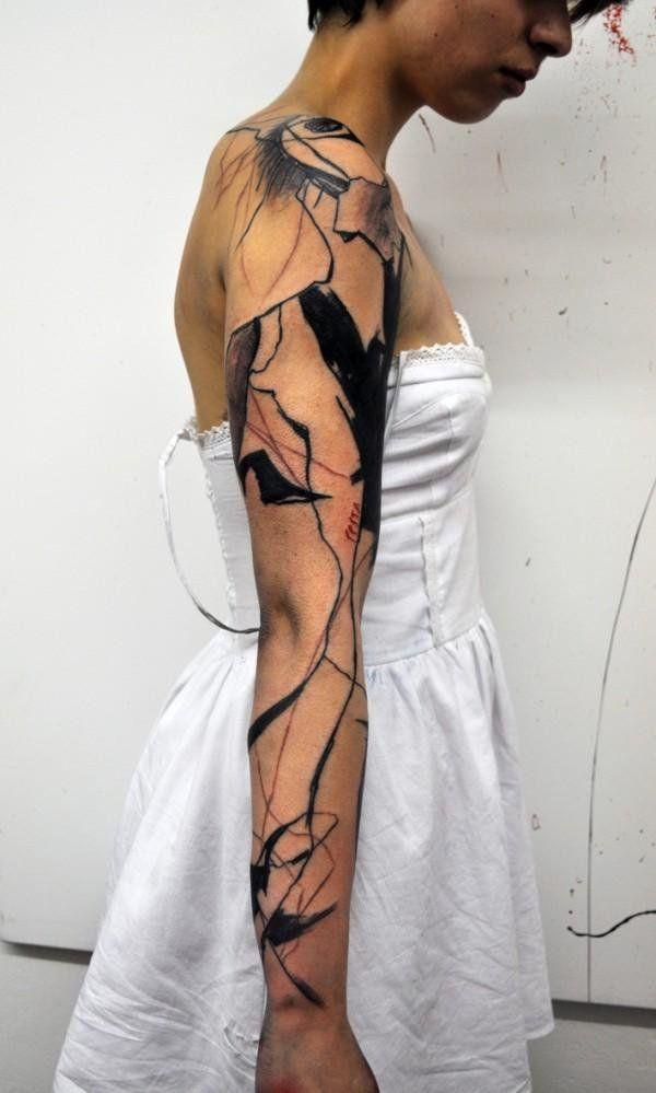 abstract volledige mouw tattoo - 40 Mind blazen Abstract Tatoeages <3 <3