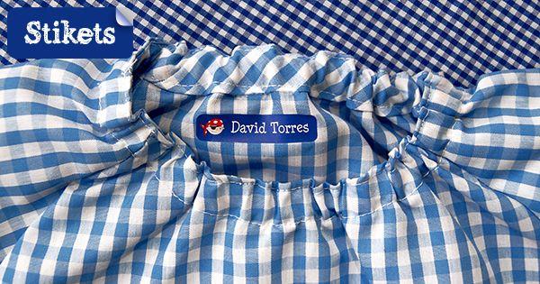 Etichette personalizzate per abbigliamento perché i bambini, ma non solo, riconoscano i vestiti a scuola, all'asilo...Ultra-resistenti. Spedizione gratis