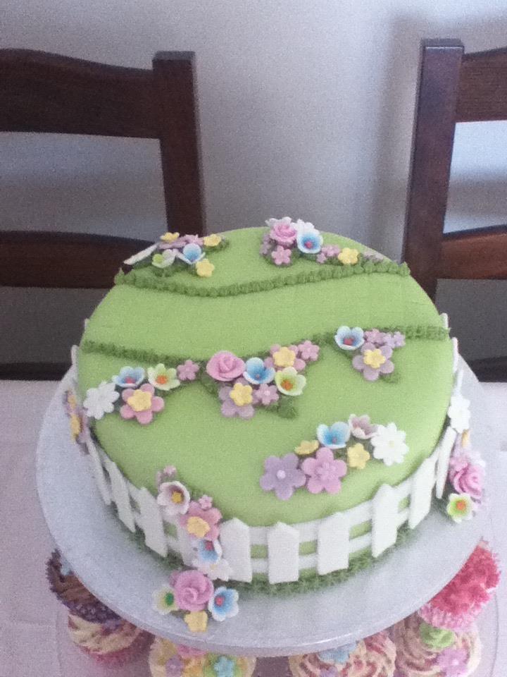 floral garden cake for sarah