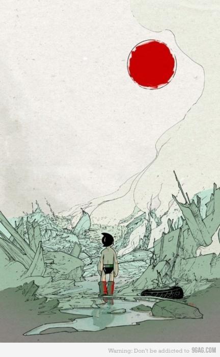 Astro Boy - Japan Earthquake Relief Art