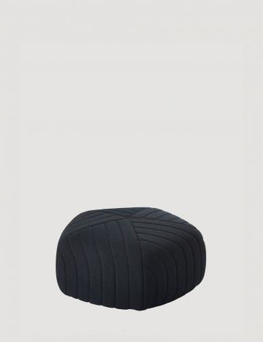 With rows of tailored strips set across a soft pentagon shape, the Anderssen & Voll designed pouf evokes visions of lines of neatly ploughed fields. Careful detailing with the use of quilted material has given FIVE POUF the combination of both a linear profile and soft-curved edges, making it very versatile and easily adaptable to multiple settings.  The pouf's unique pentagon form is the ideal accompaniment to any sofa, working well as a seat for an extra guest or to liven up a dull…