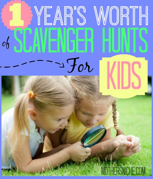 A Year's Worth of Scavenger Hunts for Kids - Mother's Niche