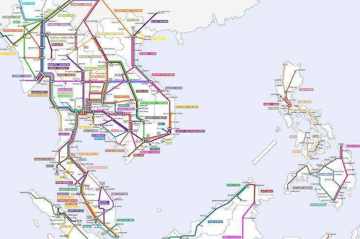 Saigon-Based Digital Nomad Creates Epic Map of Future Southeast Asia Rail Lines Saigon...
