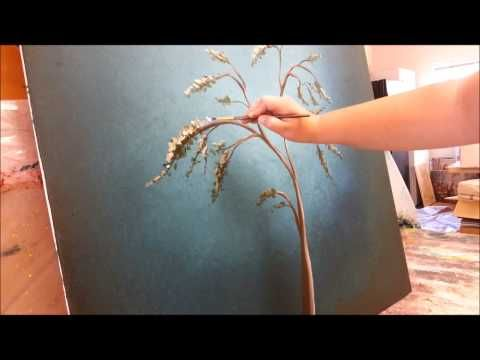▶ How to paint a tree with white blossoms - YouTube