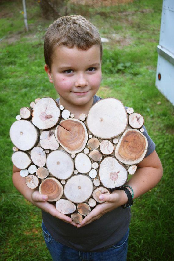 Aufgearbeiteten Holz Baum Slice Skulptur von WildSliceDesigns