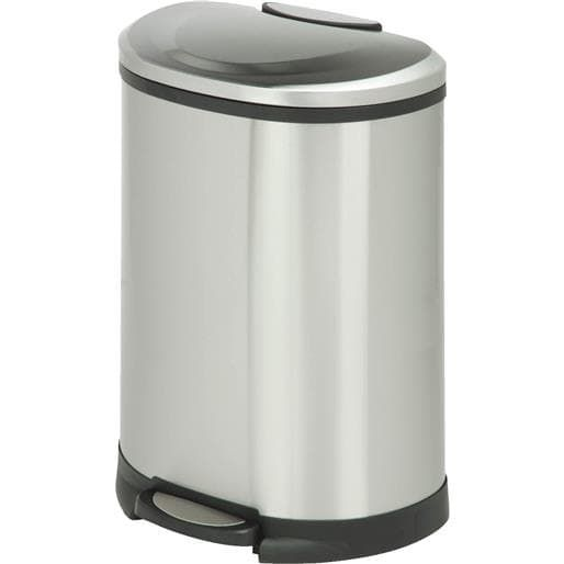 Honey Can Do 50L Ss Semi-Oval Stepcan TRS-05306 Unit: Each