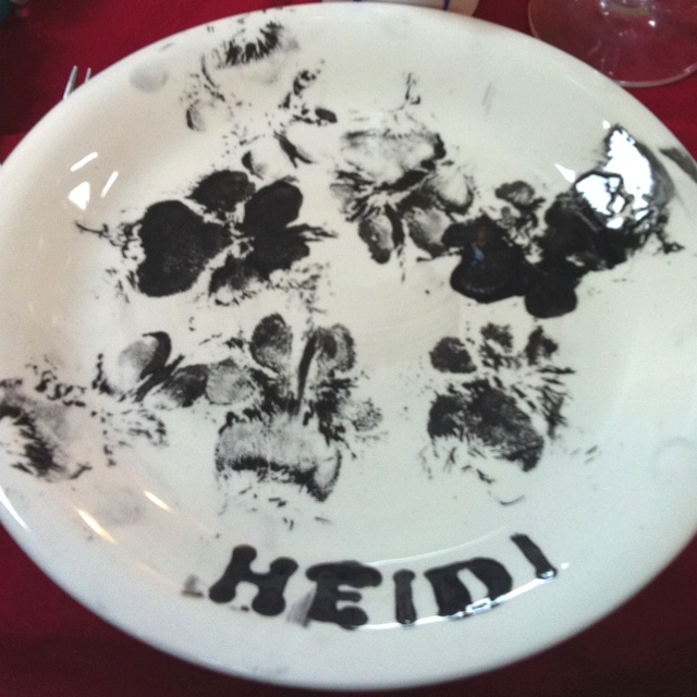 Plate designed by Labrador Heidi