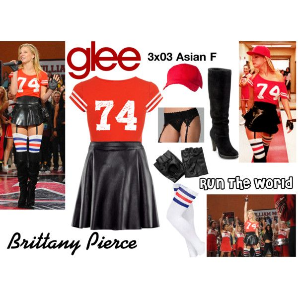 """Brittany Pierce (Glee) : Run The World"" by aure26 on Polyvore"