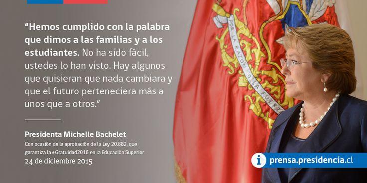 Presidenta Michelle Bachelet #Gratuidad2016