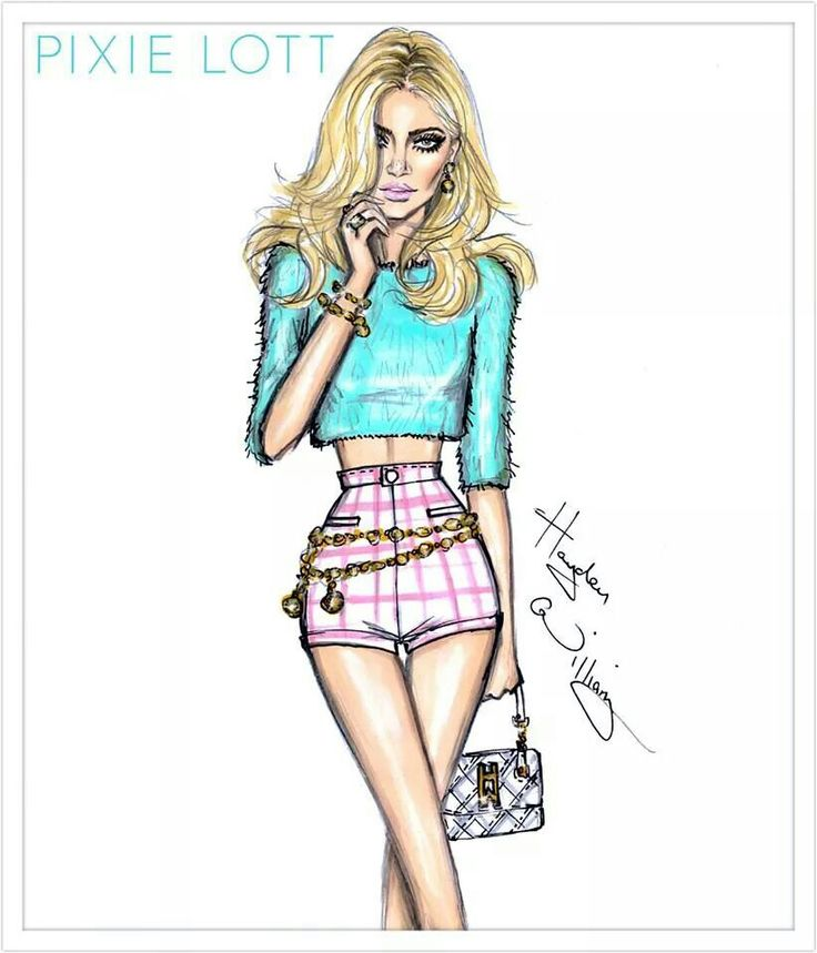 Картинки как нарисовать модную девушку