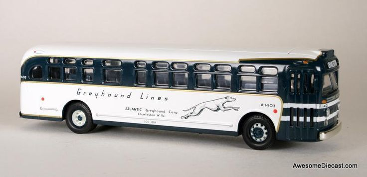 """Awesome Diecast - Only One! Corgi 1:50 GM 4509 """"Old Look"""" Suburban Coach: Greyhound Lines: Charleston,  €75.24 (http://www.awesomediecast.com/only-one-corgi-1-50-gm-4509-old-look-suburban-coach-greyhound-lines-charleston/)"""