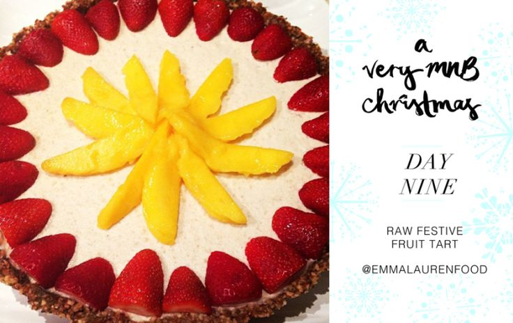 raw festive fruit tart