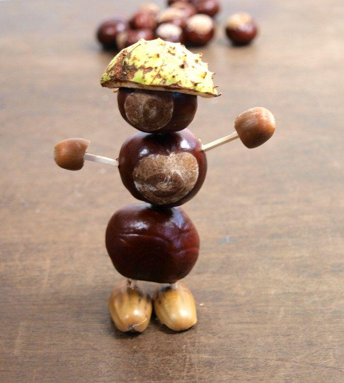 Basteln Mit Kindern Basteln Mit Kastanien Basteln Mit Naturmaterialien Herbst Kastanien Basteln Kastanienmannchen Basteln