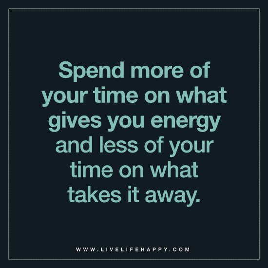 Spend More of Your Time on What Gives