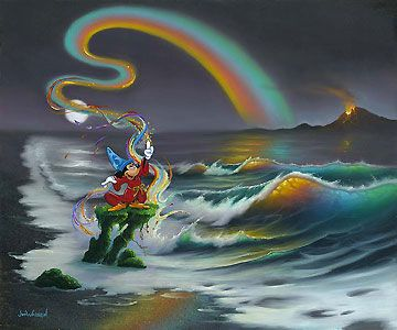 Mickey Mouse - Mickey Colors the World - Jim Warren - World-Wide-Art.com - $650.00