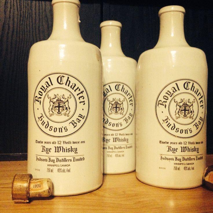 Royal Charter Hudson Bay Whiskey Rye Stoneware 1976 Bottle Lot with Corks  by PastFunk on Etsy