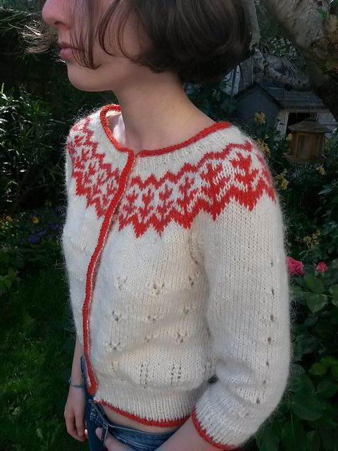 free knitting pattern - Simone Cardigan pattern by Gaëlle Mazéas