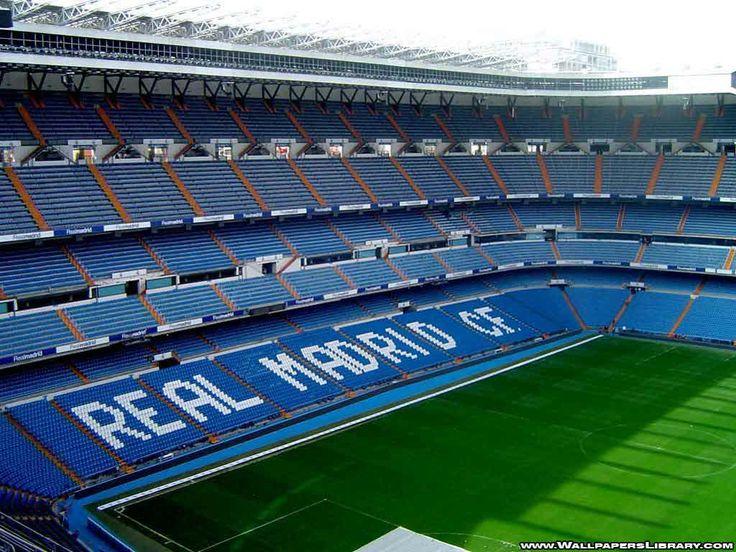 Santiago Bernabeu Stadium in Madrid, Spain to watch the best soccer team ever play, Real Madrid.