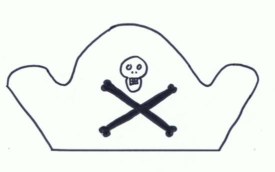 Molde de sombrero pirata - Imagui