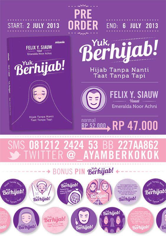 Info Pre Order buku #YukBerhijab di @_AyamBerkokok