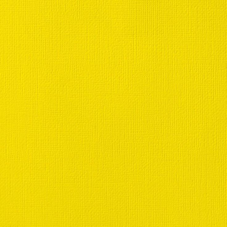 LEMON American Crafts 12x12 Cardstock Yellow