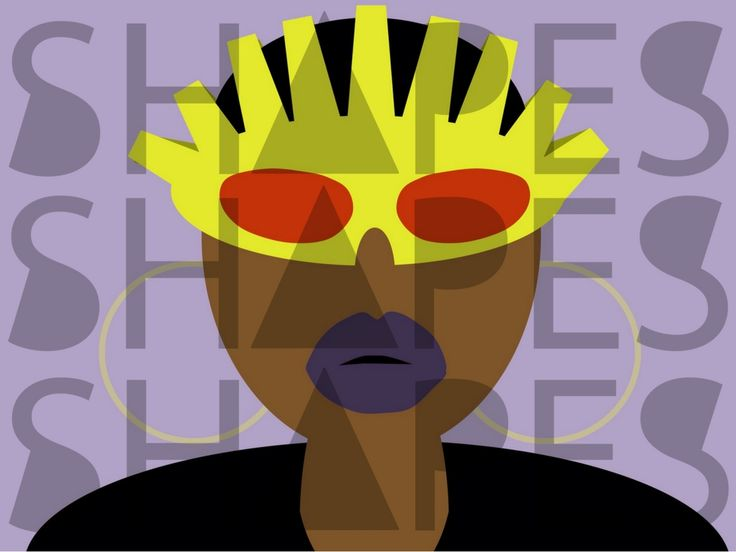 Original artwork from Shapes Design Company. Inspired by the creative artist and producer, Missy Elliott.