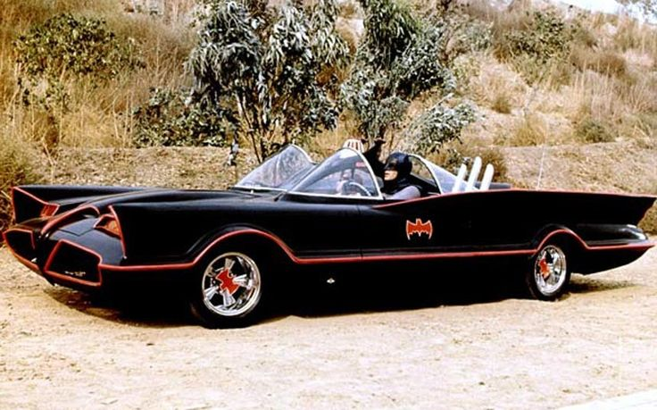 Great film and TV cars (pict. The 1966 Batmobile by George Barris, based on a 1955 Lincoln Futura concept car)
