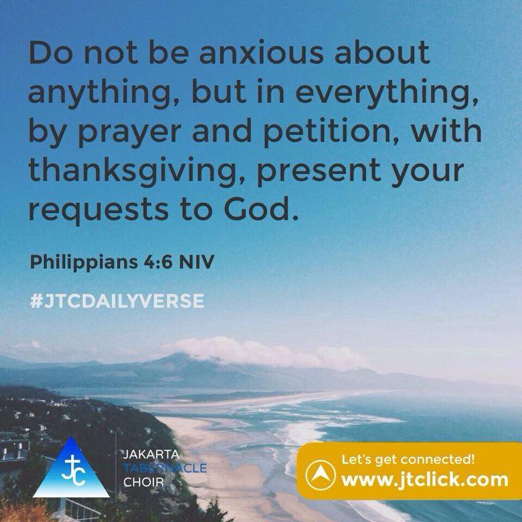 Philippians 4:6 #JTCDailyVerse