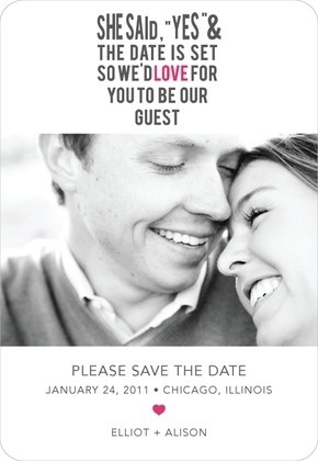 Save the date idea, love the wording of this one!