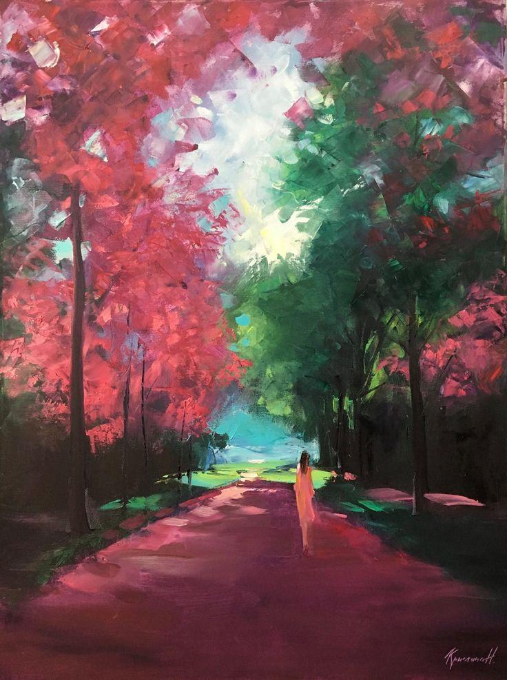Сегодня добавим немного романтического настроения с Кристиной Нгуен. Как вам ее картины? Больше нравятся парочки или идущая девушка? . #artistina_ru #artistina_картины #кристинангуен #christinanguyen