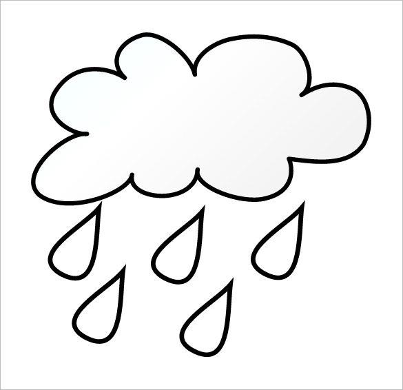 Rain Template Cloud Template Templates Printable Free Clouds