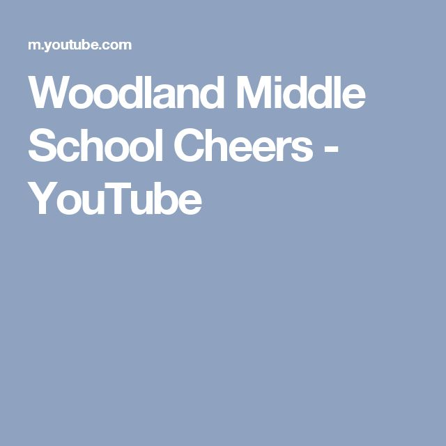 Woodland Middle School Cheers - YouTube