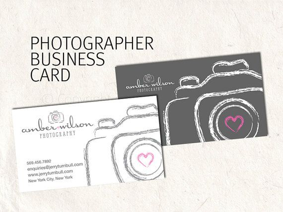 Photography business card design for by PhotographyLogos on Etsy, $10.00