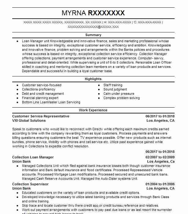 Simple Customer Service Representative Resume Example Livecareer