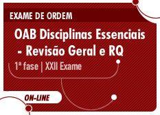 OAB Disciplinas Essenciais - Revisão Geral e Resolução de Questões   1ª Fase   Exame XXII   On-line - Damasio Educacional