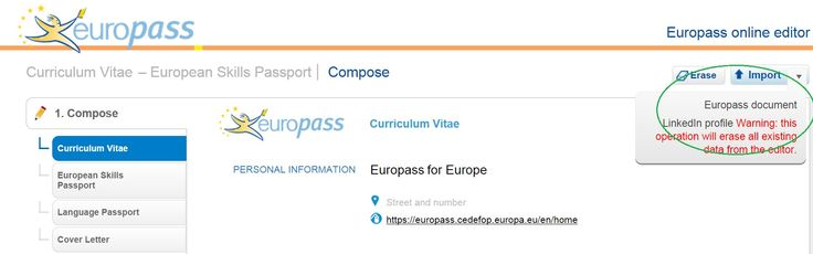 Download your #LinkedIn profile into your #Europass-CV here https - europass curriculum vitae