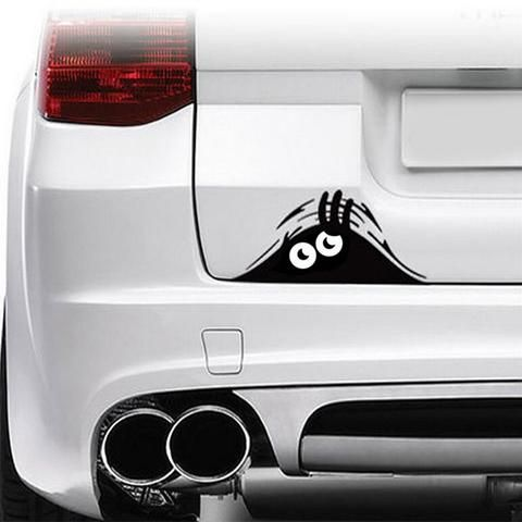 Peeking monster vinyl car decals