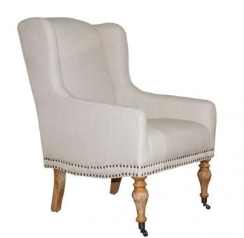 Hannah wingback tub chair. A Block and Chisel Product.