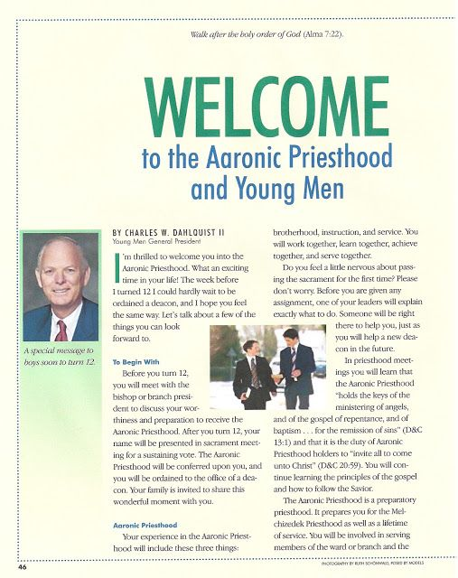 Happy Clean Living: Priesthood Preview ideas and Welcome to Y/W Ideas.