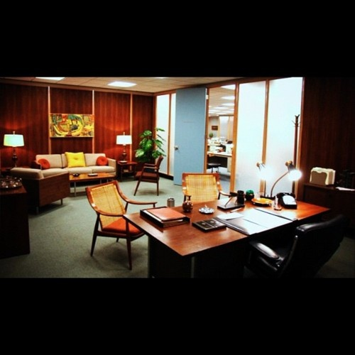 Don Drapers Office From The Mad Men Set