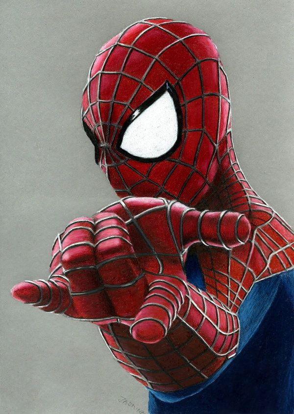 Colored Pencil Drawing: The Amazing Spider-Man 2 by JasminaSusak on DeviantArt