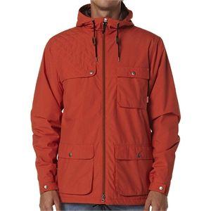 New Poler Men's Outpost 2L Jacket Leather Warm Snowboard Ski Orange