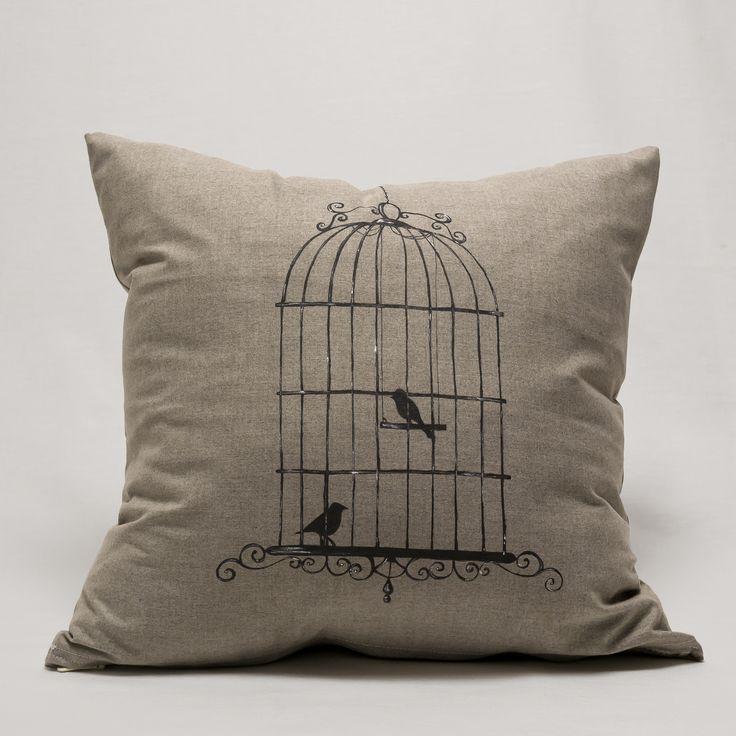 "Pillow ""Birds Cage""  https://www.facebook.com/miss.machine.hand.made/photos/pb.510724315709917.-2207520000.1421220808./512389045543444/?type=3&theater"