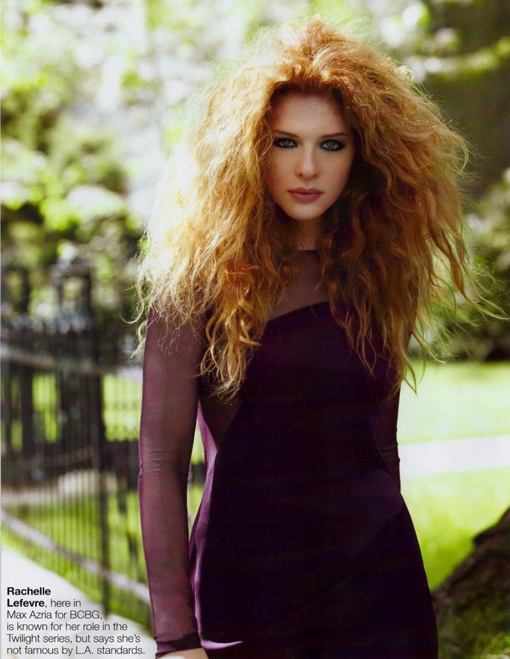 Rachelle Lefevre i would wear my hair like this everyday if i could!!