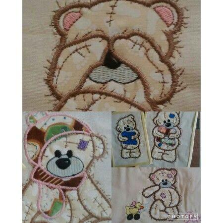 Appliqué of teddy bears
