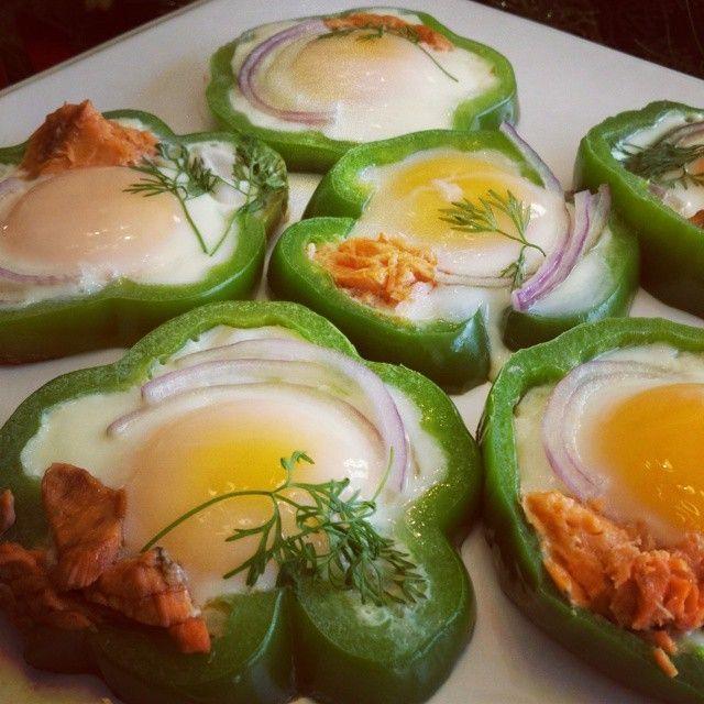 Eggs in Bell Pepper Rings Clean Eating Breakfast Ideas